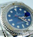 Begagnad-Rolex-Yacht-master-blå-detalj-urtavla-2-Ny