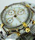 Begagnad-Breitling-Chronomat-81950-18k-detalj-vit-90s-detalj-urtavla