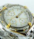 Begagnad-Breitling-Chronomat-81950-18k-detalj-vit-90s-detalj-urtavla-2