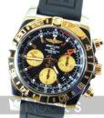 Begagnad-Breitling-Chronomat-CB042012-18-gummi-svart-front-staende